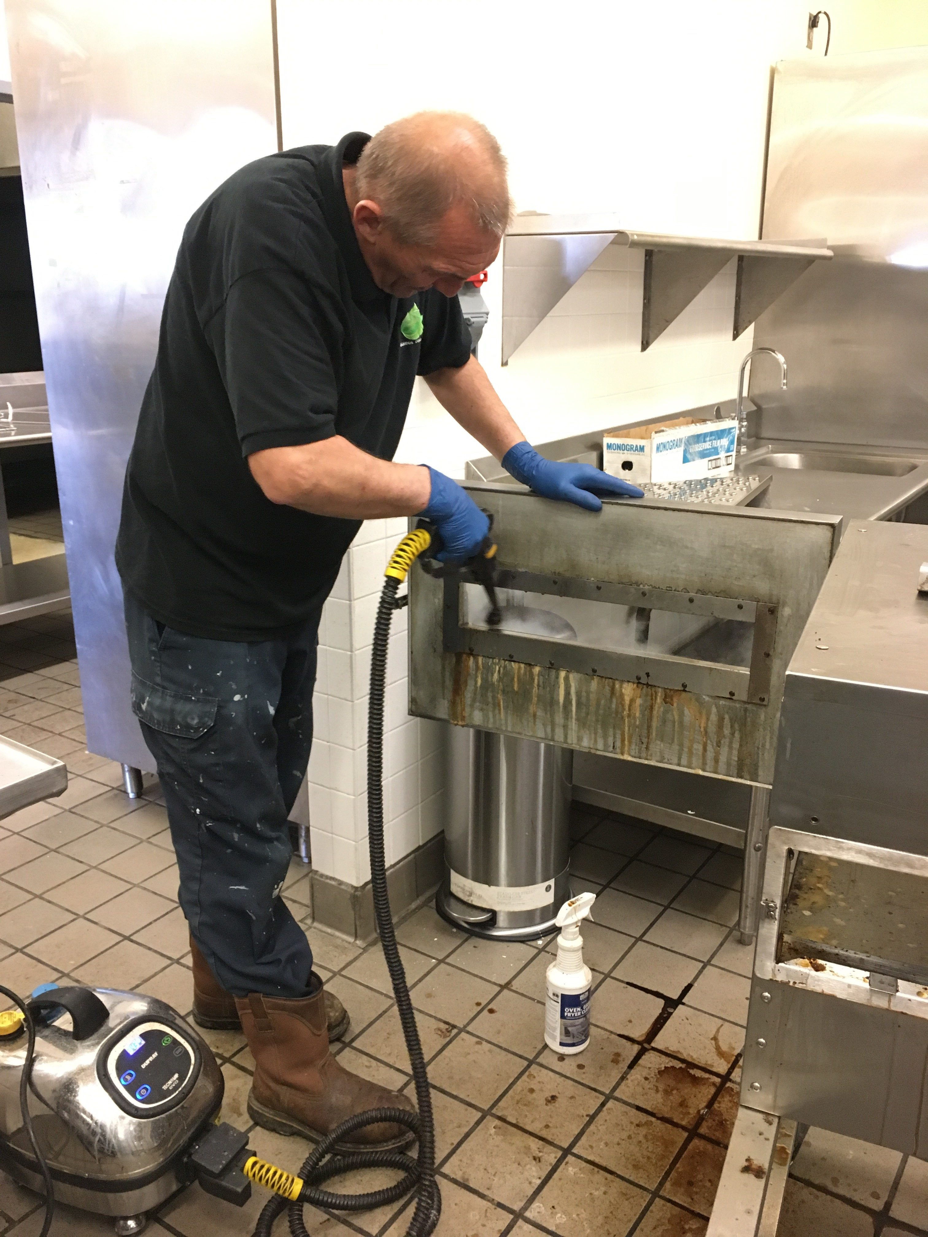 Commercial Kitchen Deep Steam Cleaning Services MD VA DC